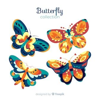 Pacote de linda borboleta
