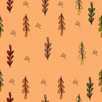Pacote de lindas folhas de outono e flores