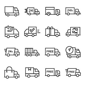 Pacote de linha de veículos de entrega