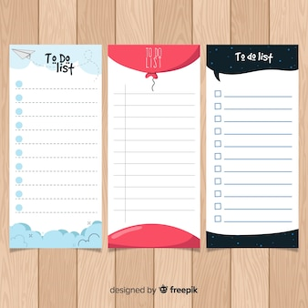 Pacote de listas de tarefas