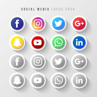 Pacote de logos de mídia social