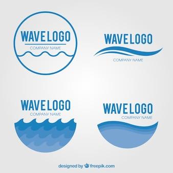 Pacote de logos de onda