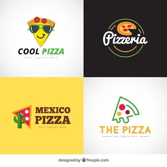 Pacote de logos de pizza criativos