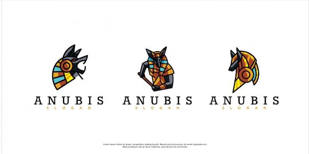 Pacote de logotipo anubis