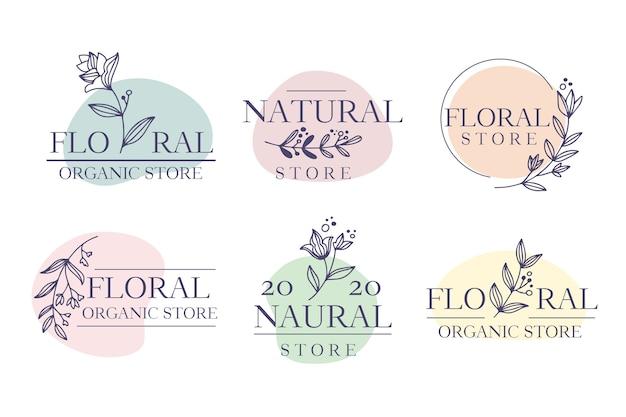Pacote de logotipo comercial em estilo minimalista