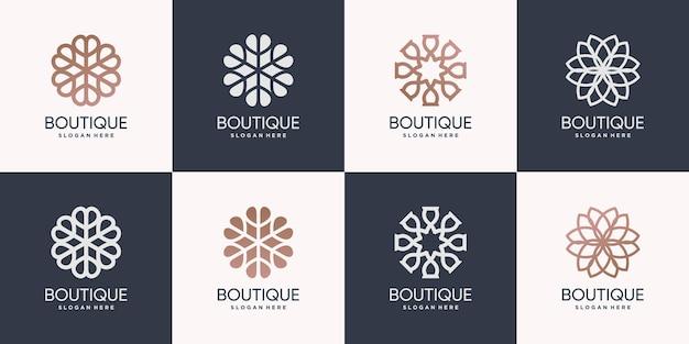 Pacote de logotipo da boutique premium vector