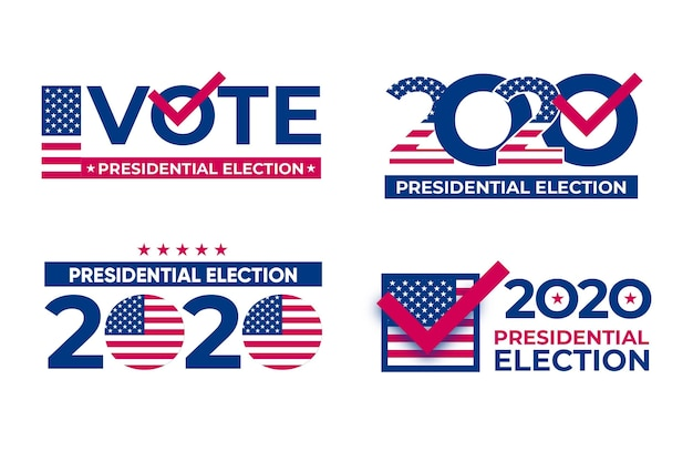Pacote de logotipo da eleição presidencial dos eua de 2020