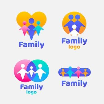 Pacote de logotipo da família