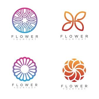 Pacote de logotipo da flor