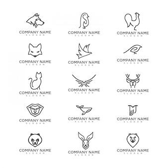 Pacote de logotipo de animais
