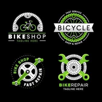 Pacote de logotipo de bicicleta