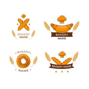 Pacote de logotipo de bolo de padaria