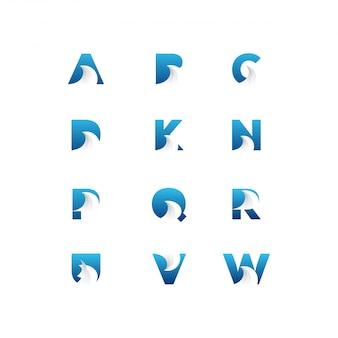 Pacote de logotipo de carta