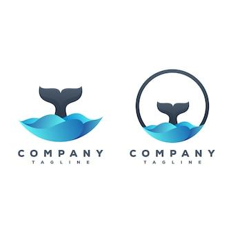 Pacote de logotipo de cauda de baleia