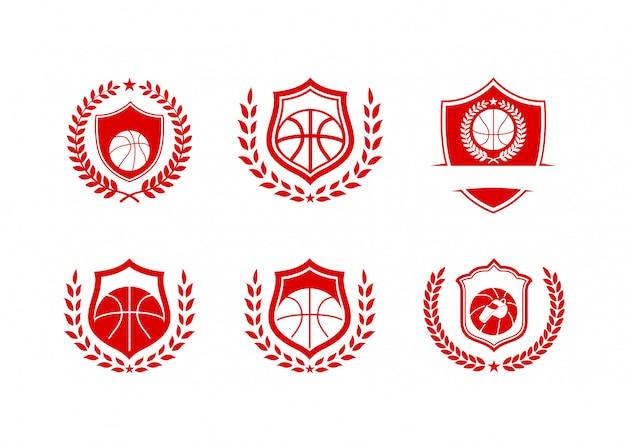 Pacote de logotipo de classe de cesta