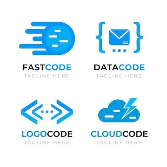 Pacote de logotipo de código criativo