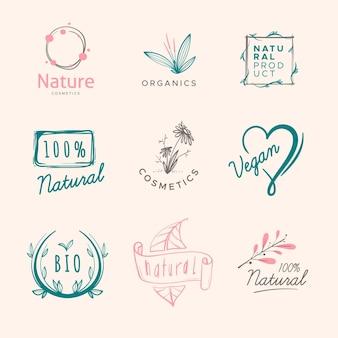 Pacote de logotipo de cosméticos da natureza