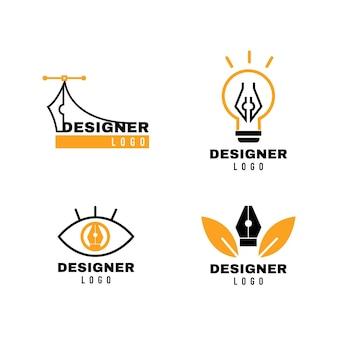 Pacote de logotipo de design gráfico moderno