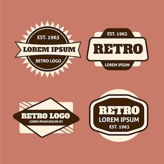 Pacote de logotipo de design retro