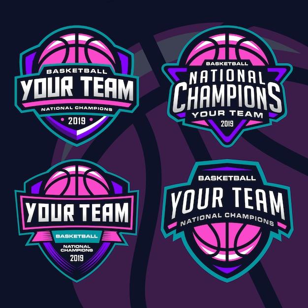 Pacote de logotipo de equipe de esporte de basquete