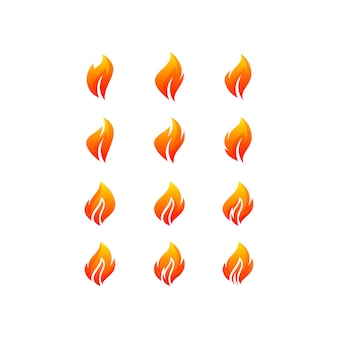 Pacote de logotipo de fogo