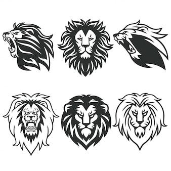 Pacote de logotipo de leão