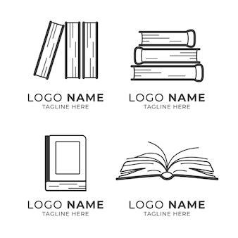 Pacote de logotipo de livro moderno