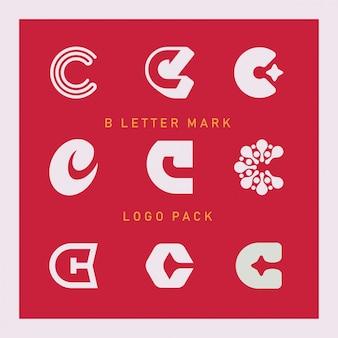 Pacote de logotipo de marca de letra c