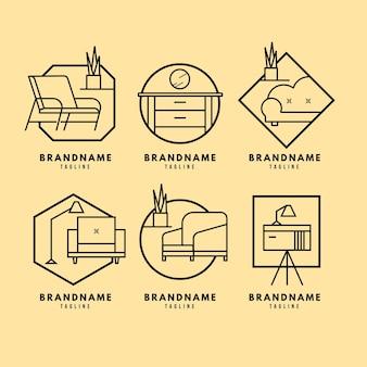 Pacote de logotipo de móveis