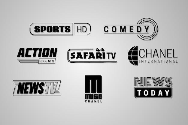 Pacote de logotipo de notícias