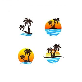 Pacote de logotipo de praia