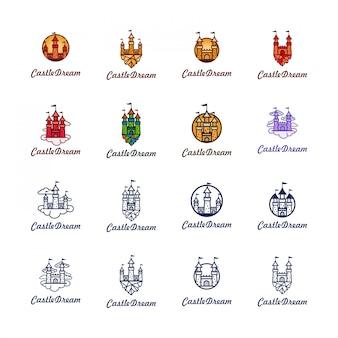 Pacote de logotipo de sonho do castelo