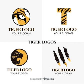 Pacote de logotipo de tigre simples