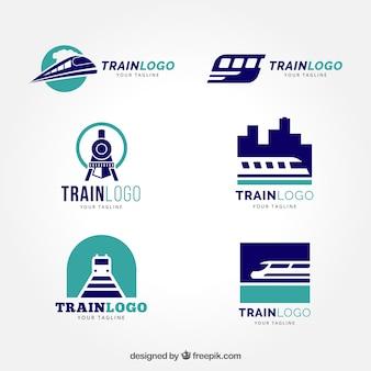 Pacote de logótipo de trem