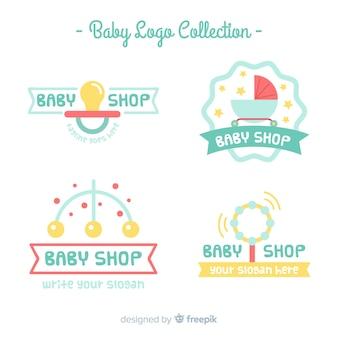 Pacote de logotipo do bebê