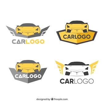 Pacote de logotipo do carro dourado