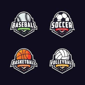 Pacote de logotipo esportivo moderno