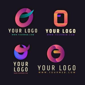 Pacote de logotipo gradient o