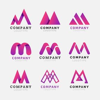 Pacote de logotipo m