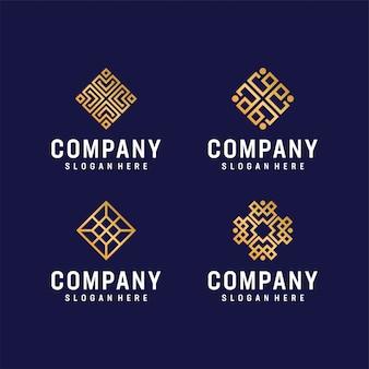 Pacote de logotipo moderno inspirador