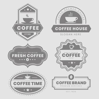Pacote de logotipo vintage de café