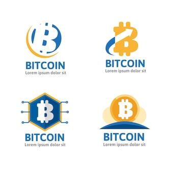 Pacote de logotipos bitcoin planos