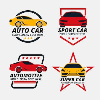Pacote de logotipos de carros ilustrados