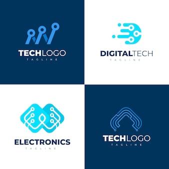 Pacote de logotipos de eletrônicos planos