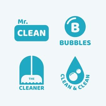 Pacote de logotipos de limpeza