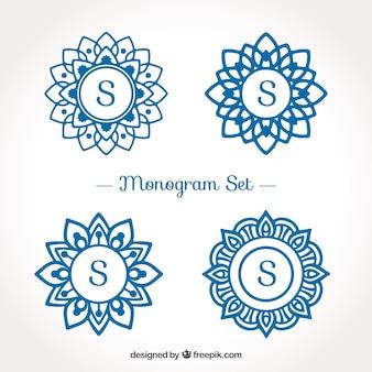 Pacote de logotipos de monogramas com a letra