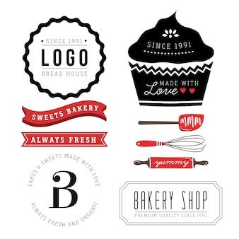 Pacote de logotipos de padaria