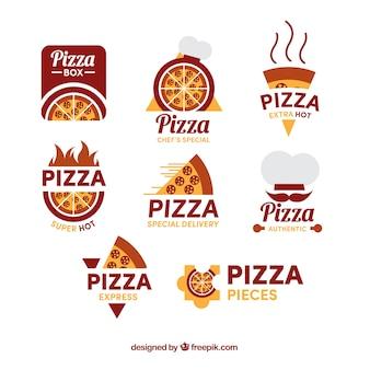 Pacote de logotipos de pizzaria