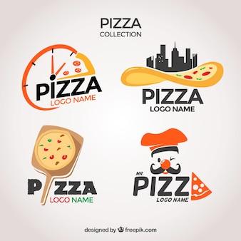 Pacote de logotipos de pizzarias