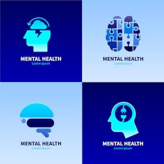 Pacote de logotipos de saúde mental gradiente